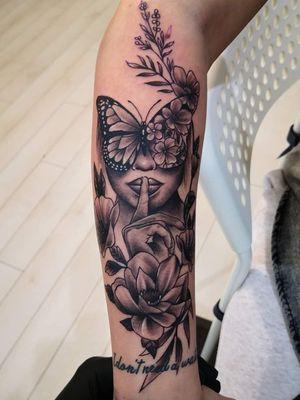 Flowers Tattoo   Shhh   Butterfly Tattoo
