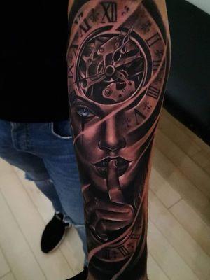 Woman Portrait Tattoo   Watch Tattoo  Shhh ☠️