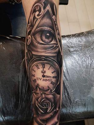 Eye   Watch   Rose Tattoo