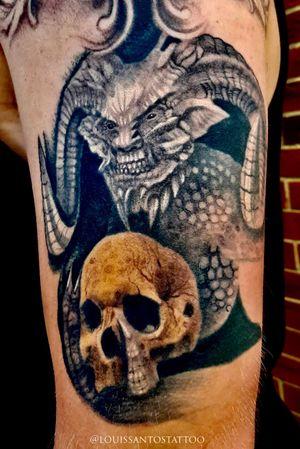 Horror Beast holding a skull