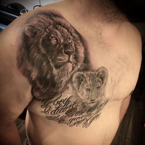 #liontattoo #houstontattooshop #blackandgreytattoo