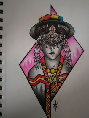 Kinnaur spirit #tattooflash #tattoodesigns #tattooart #tattooartist #indiantattooartist #indiantattooindustry