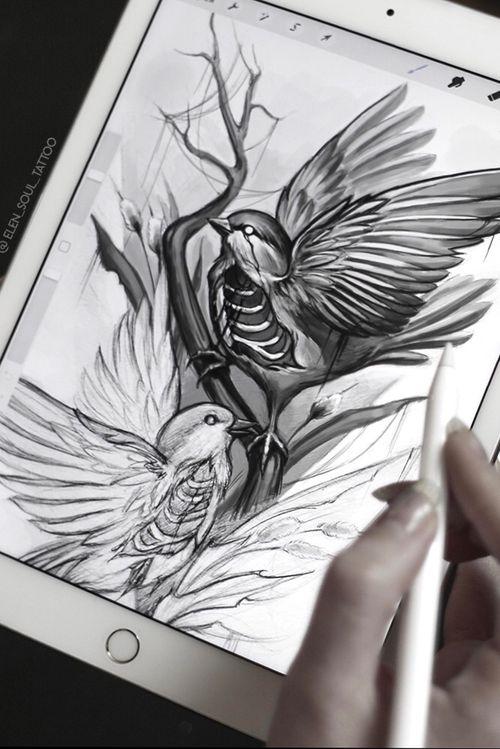 #elensoul #tattoo #birds #birdsdesign