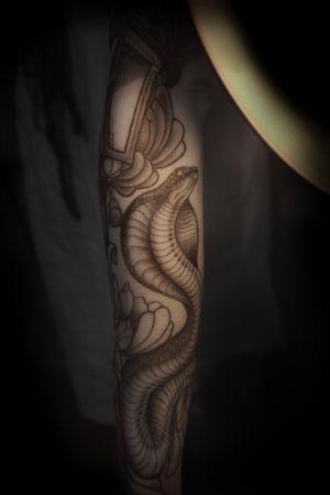 Original work. #neonouveau #artnouveau #artnouveautattoo #neotradi #neotraditionalworldwide #neotraditionaltattoo #neotradstyle #neotraditional #neotrad #tattooart #trevorgavilan