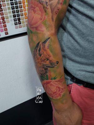 Fox tattoo @byronzart