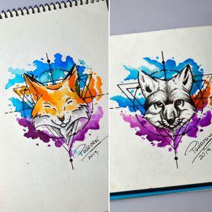 #foxtattoo #raposatattoo #fox #raposa #thiagopadovani #watercolortattoo #aquarela