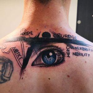 Polka Trash  Eye Tattoo   words