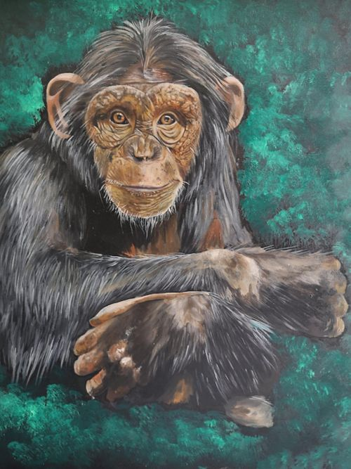 """Commission """"let's talk"""" oil on canvas"""