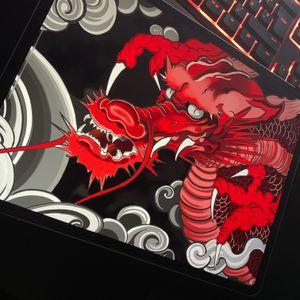 Red dragon design