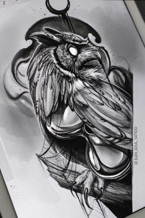 #elensoul #owl #tattooowl