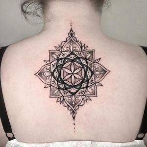 Cover up mandala tattoo #mandalatattoo #tattoomandala