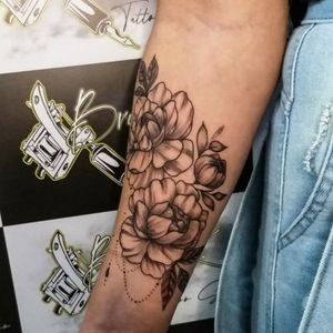 Tattoo floral rastelado