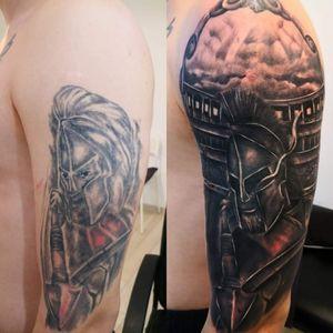 Cover Up Tattoo   Worrior