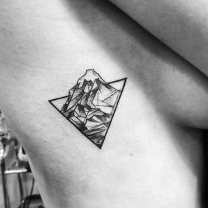 """Mountains"" for Anya (February '18) ◼ #тату #горы #trigram #tattoo #mountains #inkedsense"