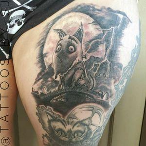 #tattooartist #aztattoo #aztattooartist #phoenix #blackandgreytattoo #TimBurton #timburtontattoo #Frankenweenie