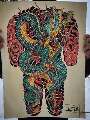 Dragon Backpiece design