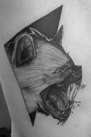 Blackwork hyena