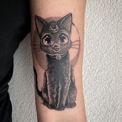 #tattoo #tatouage #cat #cattattoo #luna #lunatattoo #sailormoon #blackcat #blackcattattoo #realisticink #cute #cutetattoo #cutecat #dot #dotwork #dotworktattoo #dotworkers #lausanne #lausannetattoo #tattoolausanne #fann_ink