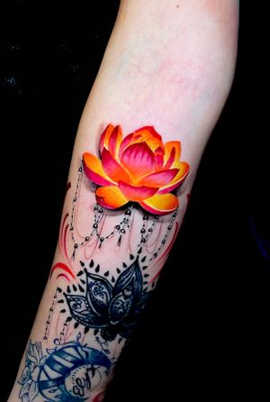 Lotus with jewelry