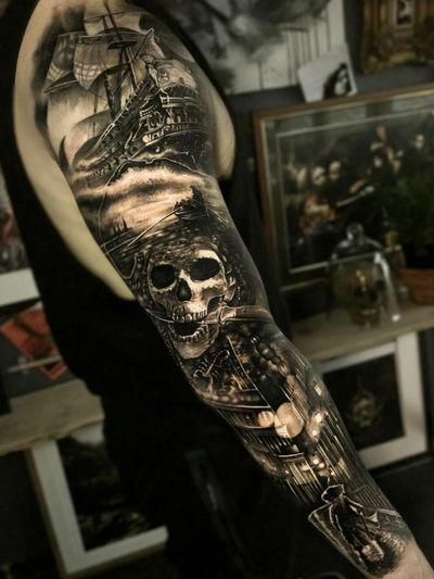 #pirate #sleeve #PiratesoftheCaribbean