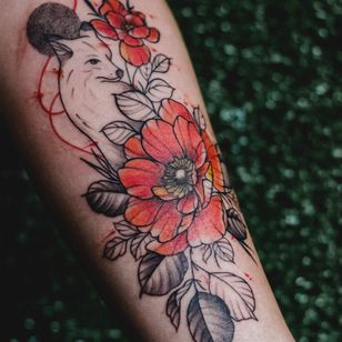 Fox tattoo by Alina
