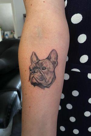 Little illustrated doggo portrait for a proud mum