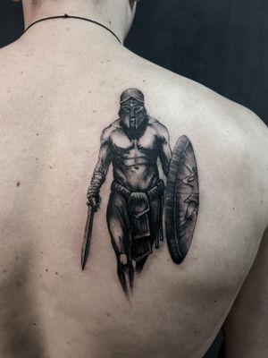 Spartan #spartantattoo #realistictattoo #black&gray