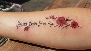 #nevergiveup #neverevergiveup #redflowers #cherrytree