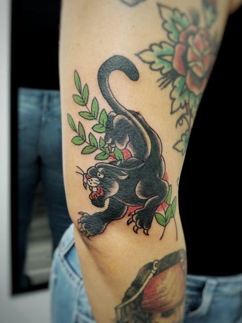 #traditional #neotrad #trad #oldschool #panther #wildcat #wild #cat #voodootatts #voodoo