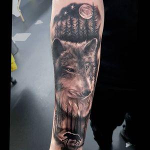 Wolf tattoo ~ Ed1Tat2