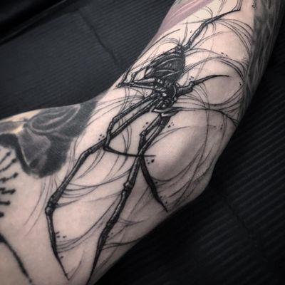 Spider gap filler #spider #blackwork #horror #DarkArt
