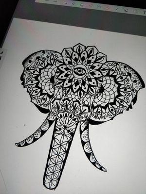 elephant Mandala tattoo design We always design before execution.