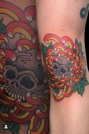 By JK #traditionaljapanese #skull