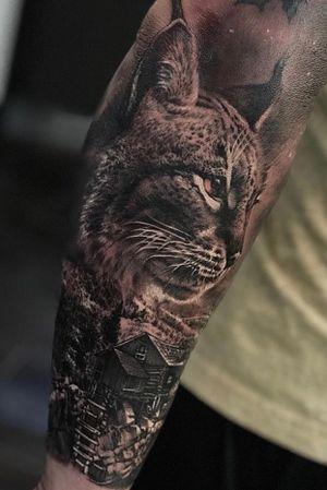 Lynx #lynx #blackandgrey #photorealism