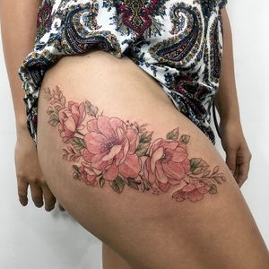 Flowers lovers 💐 #flowers #floral #tattoo #tattoodo