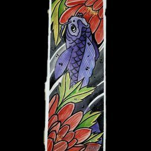 Pinturita de domingo.. #tattoo #inked #ink #paint #painttattoo #koi #fish #fishkoi #japaneseart #japanesetattoo #japanesepaint #japanesepainting #luchotattoo #luchotattooer #pergamino
