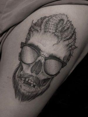 Skull. Paige Jean Tattoos. Salt Lake City, Utah.