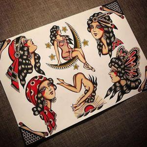 Traditional Gipsy girl