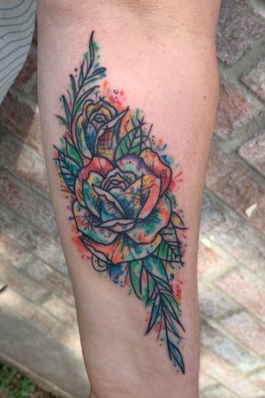 Watercolor Rose Design