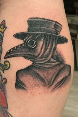 Black and Grey Plague Doctor