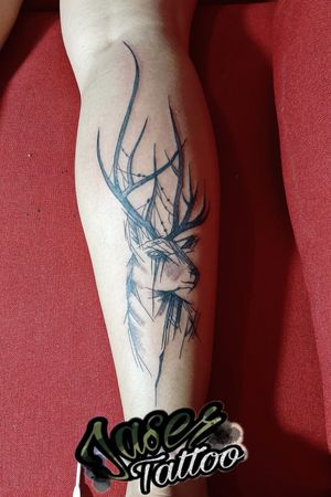 #tatuaje #blackandgrey #venado #tatuajes para #hombre y #mujer . . #jaser #tattooart #ink ⚡