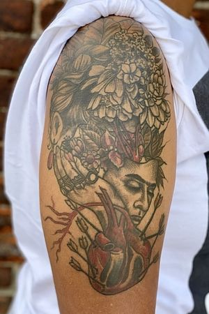 #Healed #Fridakahlo #tattoo #abstract #human #heart #transcending