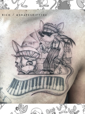 Of Mice & Men . . . #fresh #pinkyandthebrain by @shapeshift102 for Richie. ( piano keys not by Rico ). . . . For bookings and queries DM or email shapeshift102@gmail.com . . . #tattoo #tattoos #kakluckytattoos #mood #socialdistancing2020 #lekker #capetowntattoos #mood #love #staysafe #art #artists #wecandothis #belekker #safetyfirst #covid19prepared #goodvibes #keepsafe #art #artist #beauty #bigmood #instagood #instadaily #fineline #newarrivals #capetowntattoos #chesttattoo #shapeshift102