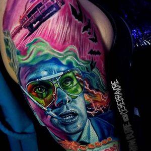 Fear and Loathing tattoo #fearandloathing #portlandtattoo #portland #portlandoregon #oregon #oregontattoo #fearandloathinginlasvegas #johnnydepp #johnnydepptattoo #movietattoo