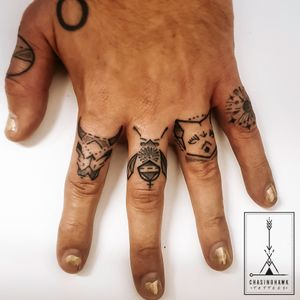 Track themed finger tattoos based on an album by @maxarthurbarton and @jethrocooke - 'The Animals'