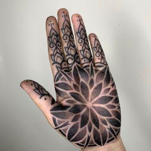 Mandala palm tattoo by luke a ashley #lukeaashley #mandala #palmtattoo
