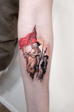 Eugène Delacroix  /  La Liberté guidant le peuple  #tattoodo