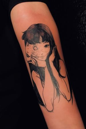 A ink-in-skin adaptation of Tomie by Junji Ito