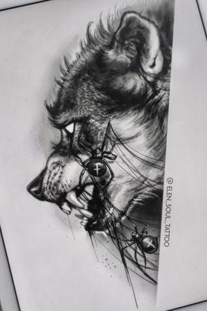 #elensoul #elensoul_art #wolf #spider #dark #horror