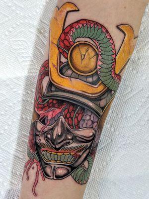 Samurai mask #montrealtattoo #mtltattoo #plateaumontroyal #montreal #mtl #montrealtattooartist #mtltattooartist #tattoo#tattoos#tat#ink#inked #tattooed#greattattoos#tattoomontreal #tatouagemontreal #montrealtattooshops #quebectattooshops #montrealtattoostudio #montrealtattooartists #montrealtattooshops #neotrad #neotraditional #neotraditionaltattoo